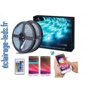 Bandeau LED RGB 2x5m étanche éclairage ambiance + Bluetooth. ref bl-05