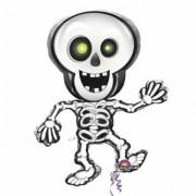 Globo Halloween esqueleto Única