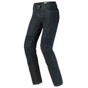 Spidi J&Racing Pantalones vaqueros de las señoras Negro Azul 28