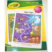 Crayola Educational Basic Skills Workbook ~ Maze Tracing (2014; Animal Themes; Pre-K)