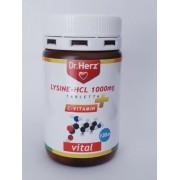 Dr. Herz Lysine-HCL 1000 mg, 120 db