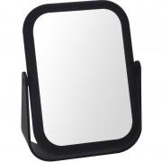 Merkloos Zwarte make-up spiegel dubbelzijdig 18 cm