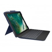 Logitech Slim Combo Custodia con Tastiera Retroilluminato con Carta Apple Smart Connector Italiano Blu Classico per iPad Pro 10,5''