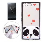 For Sony Xperia XZ Premium Electroplating Embossed Love Bear Pattern TPU Protective Back Cover Case -MEC0128H