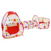 Šator Trodelni set kućica za decu - Crveni ( 1010 )