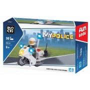 Joc constructie, My Police, Motocicleta politie, 30 piese Blocki