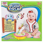 AKSHATA Musical Flash Drum with Flashing Lights and Fish Assorted Colors