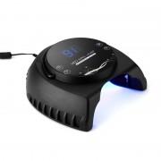 Séchoir à ongles - 60W LED, 395 à 405nM UV Wavelenght, 4 modes de synchronisation, sans danger pour l utilisation, écran LCD, 50000 heures de vie de service