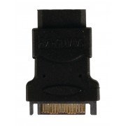 SATA-Adapter SATA 15-Pins Male - Molex Female Zwart
