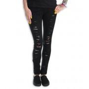 Jeans pour femmes PUNK RAVE - Destroyer - K-134