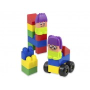Építőkocka figurás , 20 db-os szett nagyméretű elemekkel, Super block műanyag