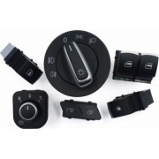 Pachet bloc lumini butoane 2 geamuri electrice rezervor reglaj oglinzi VW Golf 5 6