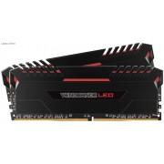 Corsair VenGeance 32Gb(16Gbx2) DDR4-3000 (PC4-24000) CL15 1.35v Desktop Memory Module with (Red led) black heatsink