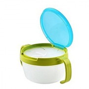 SYGA@ Children Babies Kids 360 Rotate Spill-proof Snack Catchers Bowl (Green)