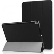 DrPhone Smart Tri-Fold Hoes iPad Pro 10.5 Inch Luxe Zwart Leer Hoesje Smart Cover - Book Case (Flip Cover) - Bescherming voor Voor- en Achterkant (Zwarte Leren)