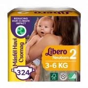 Libero Newborn pelenka, Mini 2, 3-6 kg, MÁSFÉL HAVI PELENKACSOMAG 3x108 db