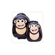 CHEEKI the Chimp - Set valiza tip trolley si ghiozdan (rucsac)