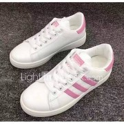 Dames Sneakers Comfortabel Lente Zomer PU Causaal Zwart Blauw Roze Plat
