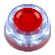 Sirena adresabila Teletek SensoIRIS WSST de interior, flash cu LED alb tip VAD, protocol TTE (Teletek)