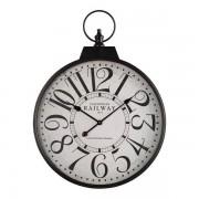Oak Furnitureland Clocks - Railway Wall Clock - Oak Furnitureland