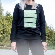 smartphoto Frauen Sweatshirt mit Foto Schwarz M