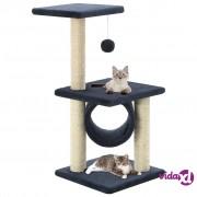 vidaXL Penjalica za mačke sa stupovima za grebanje od sisala 65 cm tamno plava