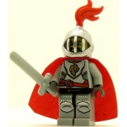 LEGO Castle Minifig Kingdoms Lion Knight Breastplate with Lion Head and Belt Helmet with Fixed Grille Cape