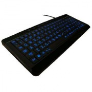 iMBAPrice Large Font Print USB LED Backlit Keyboard Orange and Blue (W9870-BK)