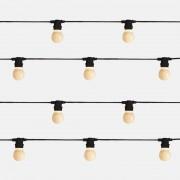 Seletti :: Lampki ogrodowe Bella Vista Black (mleczne żarówki LED)