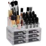 Organizator cosmetice din acril 6 sertare si 16 compartimente