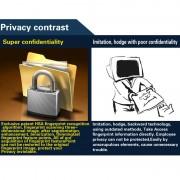 A5 2.4 pouces couleur TFT écran biométrique empreintes digitales temps de présence, USB Communication Office temps de présence horloge (noir)