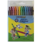 Marlin Kids Retractable Crayons Pack of 12 , Non
