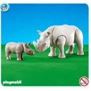 Playmobil Rhino with Calf