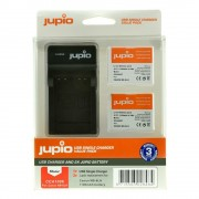 Jupio KIT 2x Battery NB-6LH USB Single Charger komplet punjač i dvije baterije za Canon PowerShot SX600 HS, D30, SX700 HS, SX510 HS, SX170 IS, SX280 HS CCA1006