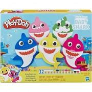 Plastilina Play-Doh Set cu accesorii, Baby Shark