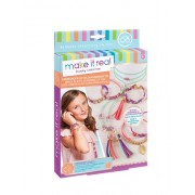 Make It Real Make It Real Gold Link Suede Bracelets. DIY Suede Bracelet & Choker Making Kit for Girls. Arts and C