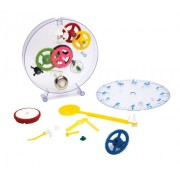 Happy Puzzle Company The Amazing Clock Kit - Construct Your Own Colorful Real Working Clock. Educational Toy That Teaches How Clocks Work, and Doubles As an Actual Wind-up
