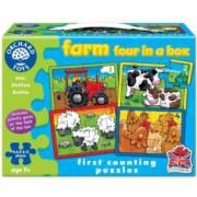 Set 4 Puzzle La ferma 4 6 8 si 12 piese FARM FOUR IN A BOX