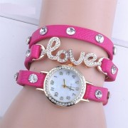 Authentic Classical Designer Pink Love Watch