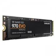 Твърд диск SSD Samsung 970 EVO Series, 500 GB 3D V-NAND Flash, NVMe M.2 (PCIe Slot), MZ-V7E500BW