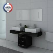 Distribain Meubles double vasque DIS988N coloris Noir