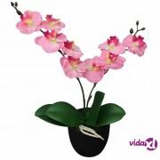vidaXL Umjetna orhideja s posudom 30 cm ružičasta