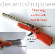 5 Inch Long Electric Shock Prank Gun LED Torch with 2 LEDs Sock Prank Fun