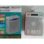 SoniLex FM Radio with USB/ SD Player + Display Screen