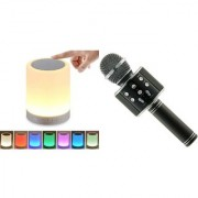 Touch lamp bluetooth speaker compatiable With all smart phones || Bluetooth speaker with SD card and USB slot Wireless Bluetooth Multimedia Speaker || Wireless Speaker and WS 858 microphobe with inbuild bluetooth speaker