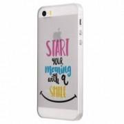 Husa Silicon Transparent Slim Smile At Morning Apple iPhone 5 5S SE