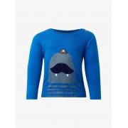 TOM TAILOR Shirt met lange mouwen en print, Kinderen, nautical blue blue, 86