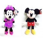 Minnie si Mickey Mouse set plusuri muzicale 30cm