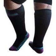 XpandaSport Sportsok met mesh panel - zwart - paars 35 - 41 - XpandaSport
