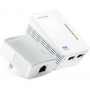 Kit Expansor De Señal Powerline WIFI Tp-Link TL-WPA4220KIT Repetidor 300 Mbps-Blanco